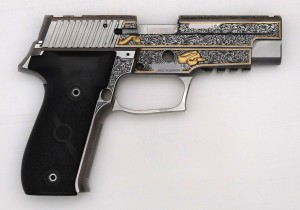 Right side of the Sig Sauer P226 engraving