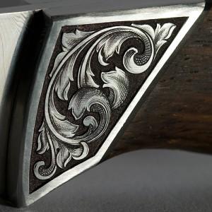 Engraving close-up