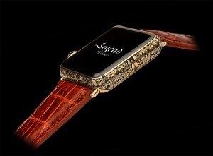 Hand engraved gold plated Apple Watch