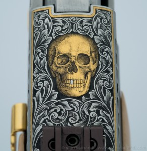 Engraved gold skull on Sig Sauer P226