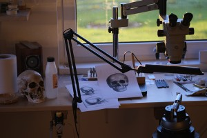 Engraving station view