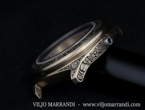 Viljo Marrandi hand engraved watch